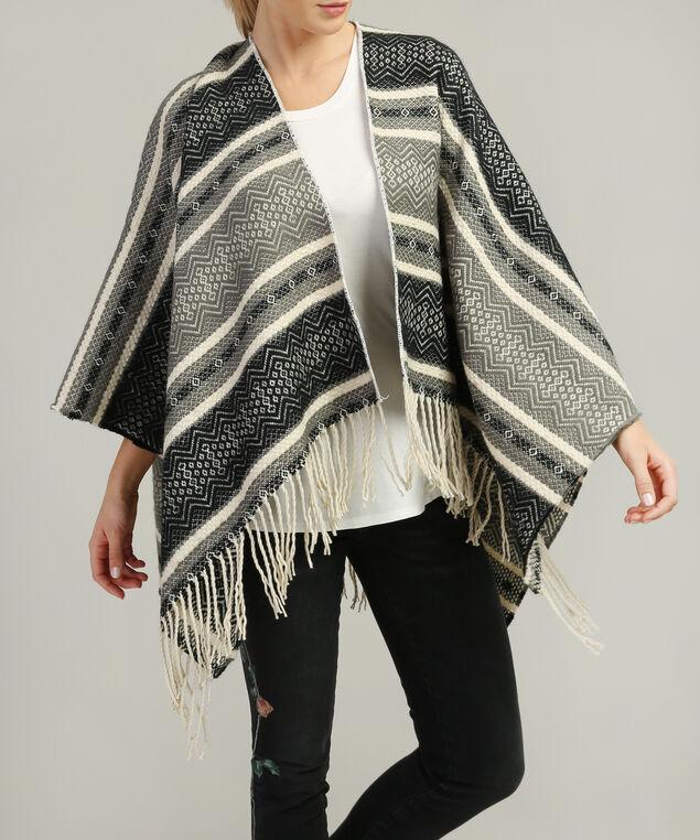 blanket cape, BLACK/GREY, hi-res