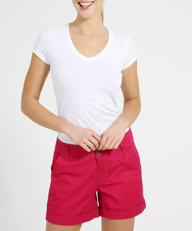 cuffed midi short - wb, RASPBERRY, hi-res