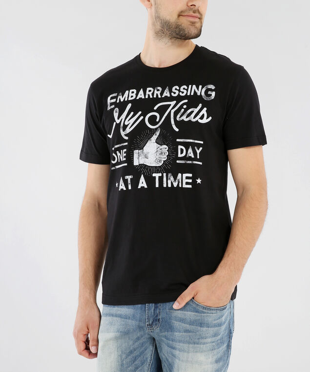 one day fathers day tee, BLACK, hi-res