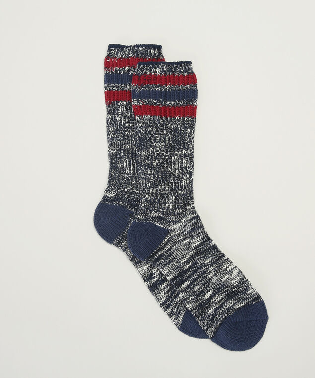 navy cabin socks, NAVY COMBINATION, hi-res