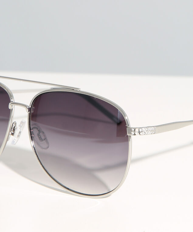 basic silver aviator , SILVER, hi-res