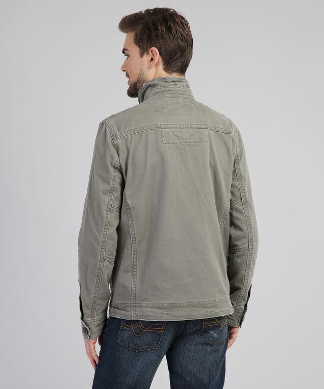 4 pocket canvas jacket, OLIVE, hi-res