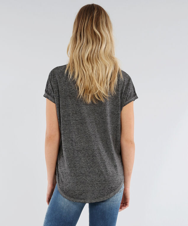 burnout v neck tee - wb, GREY BURNOUT, hi-res