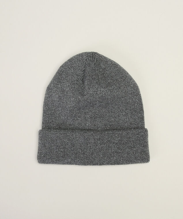 men's melange beanie, CHARCOAL, hi-res