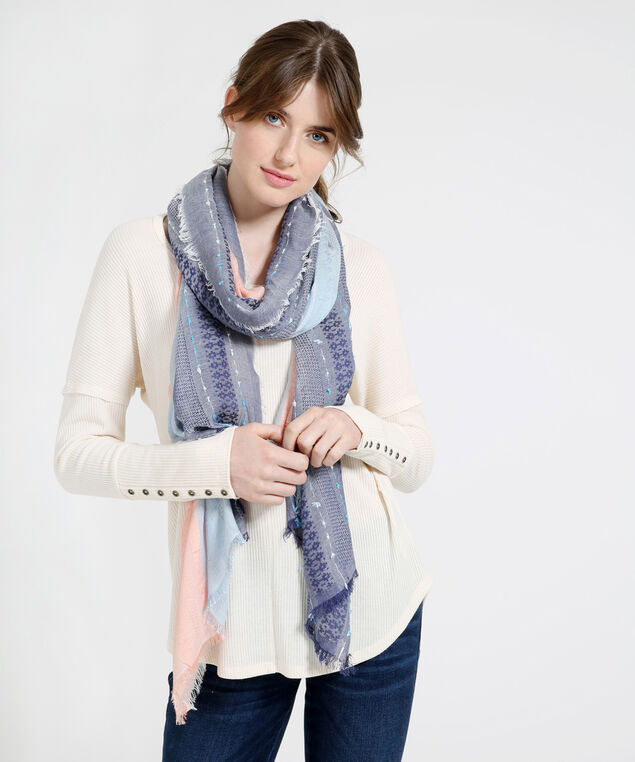 avery oblong scarf, BLUE PINK, hi-res