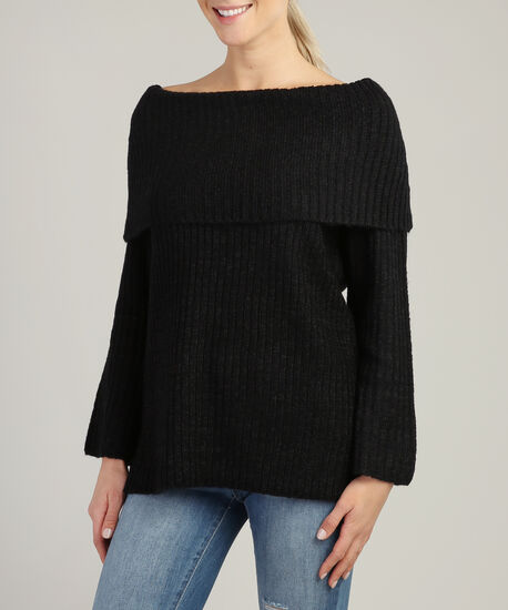 off the shoulder popover - wb, BLACK, hi-res