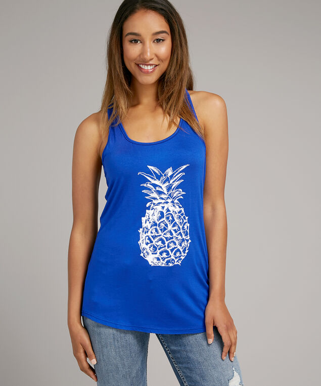 pineapple tank, ROYAL BLUE, hi-res