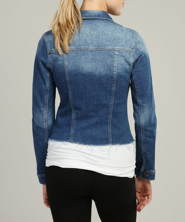 samantha used blogger cropped denim jacket, DSW, hi-res