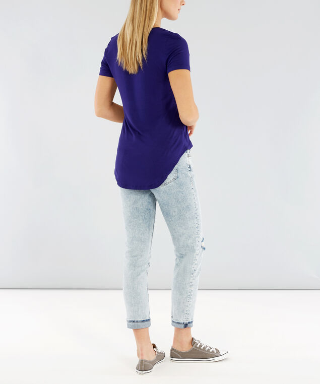 short sleeve scoop neck tee - wb, VIOLET, hi-res