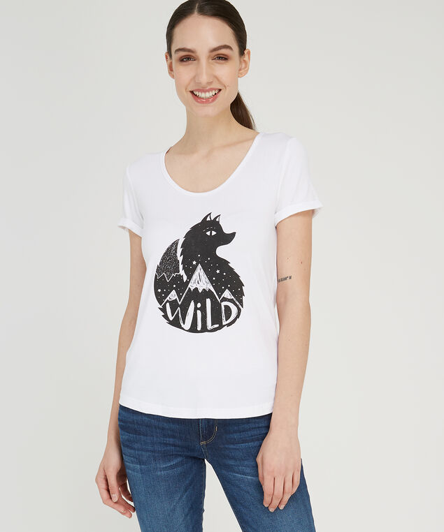wild graphic tee, WHITE, hi-res