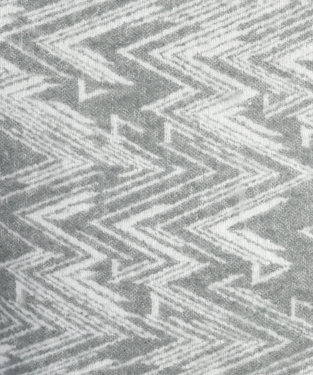 chevron pattern scarf, GREY/WHITE, hi-res