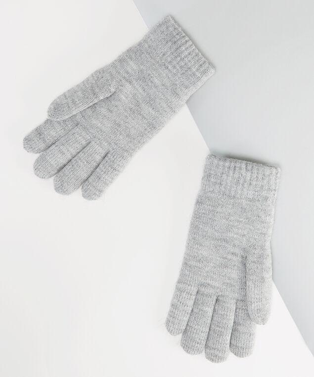 women's grey pearl gloves, GREY, hi-res