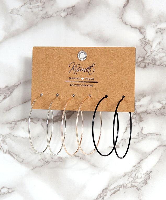 multi pack of hoop earrings, MULTI, hi-res