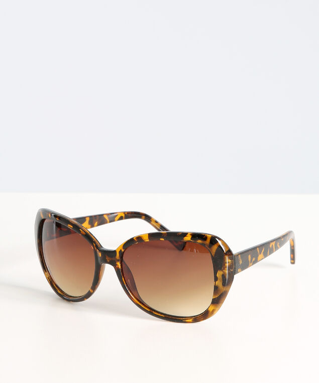 oversized tortoise sunglasses, BROWN, hi-res