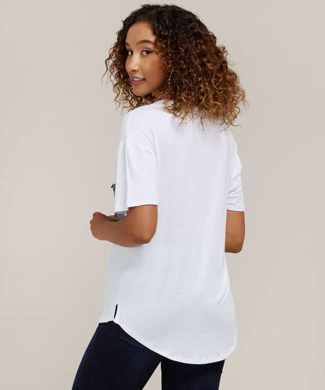 sequin pocket tee - wb, WHITE, hi-res