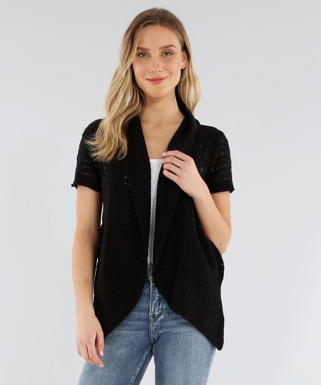 open cocoon cardigan - wb, BLACK, hi-res