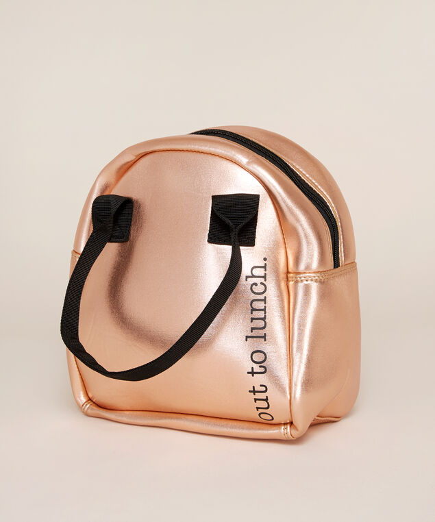 rose gold metallic lunch tote - wb, ROSE GOLD, hi-res