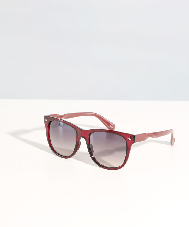 wayfarer with twisted arm, RED, hi-res