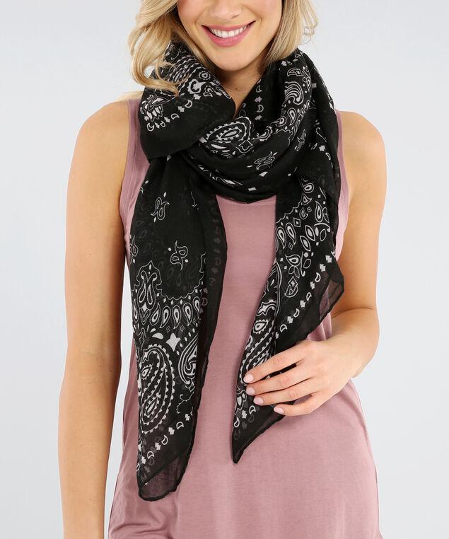 square bandana print, BLACK, hi-res