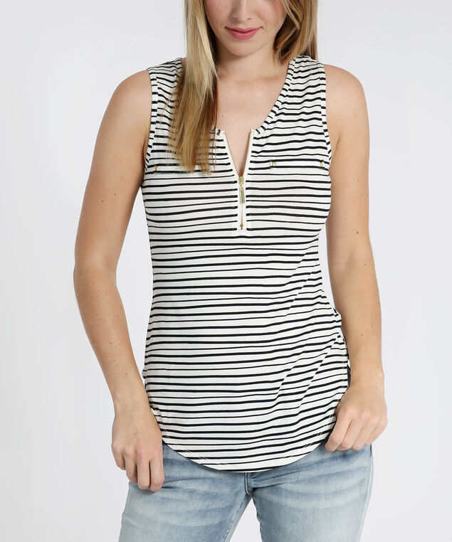 tank with front zipper - wb, STRIPE, hi-res