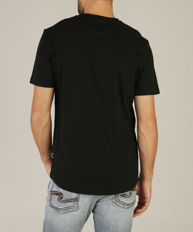 camo print pocket crew neck, BLACK, hi-res