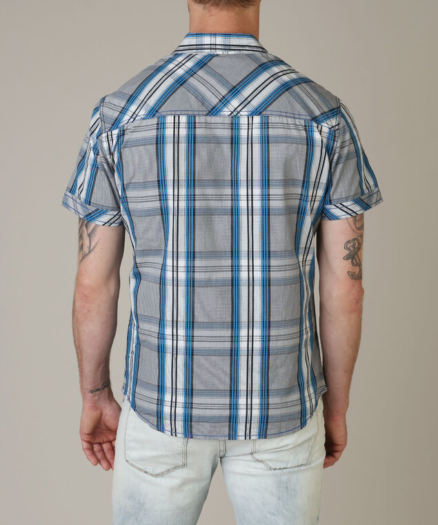2 pocket button down - wb, BLUE PLAID, hi-res