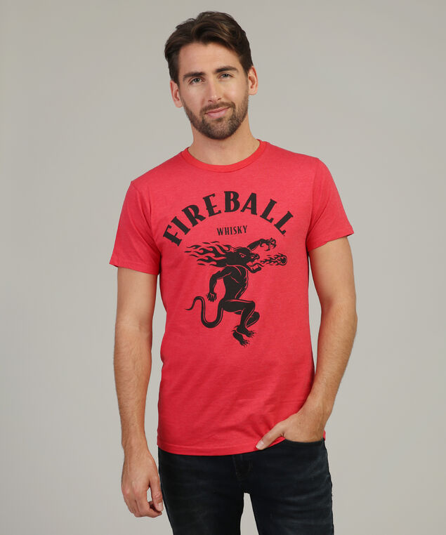 fireball whisky tee, HEATHER RED, hi-res