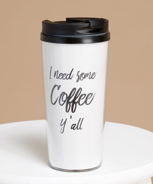 travel mug, WHITE, hi-res