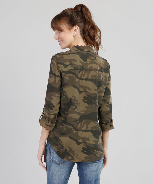 camo button down - wb, CAMO, hi-res