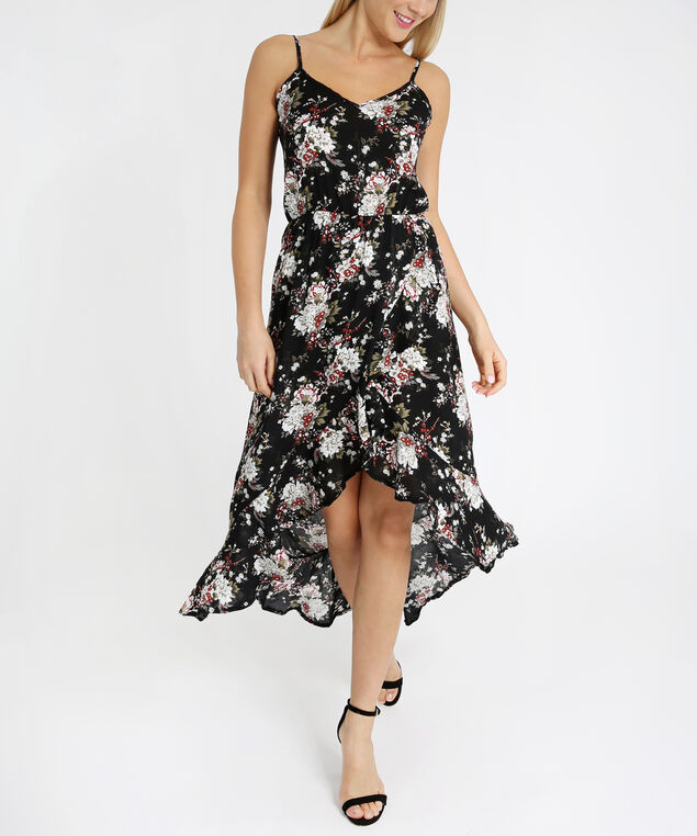 ruffle front dress - wb, NAVY FLORAL, hi-res
