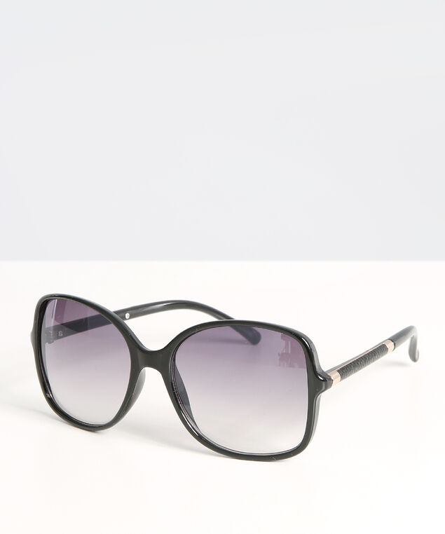 oversized sunglasses with arm detail, BLACK, hi-res