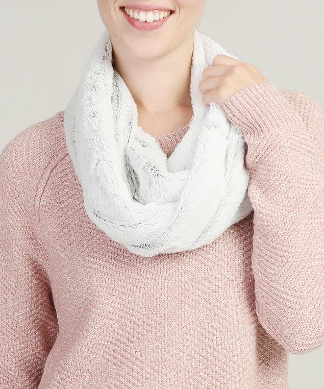 faux fur infinity scarf, GREY, hi-res
