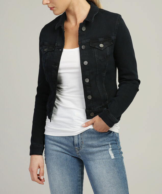 samantha midnight indigo fleece denim jacket, DSW, hi-res