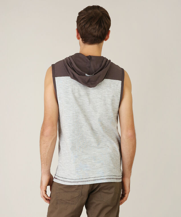 hooded vest - wb, CHARCOAL, hi-res