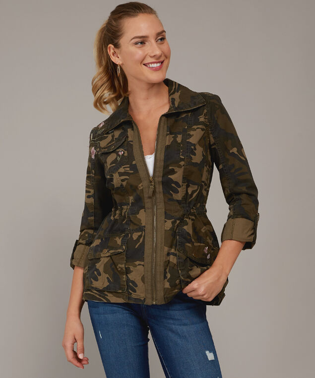 camo anorak with embroidery - wb, BROWN CAMO, hi-res