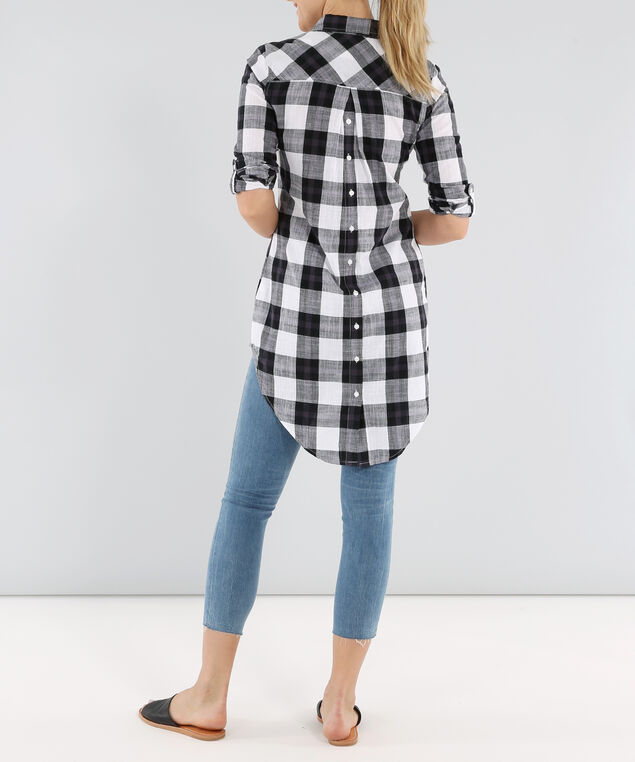 button up tunic, LARGE CHECKED, hi-res