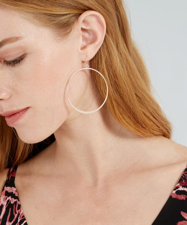 rose gold hoop earrings, ROSE GOLD, hi-res