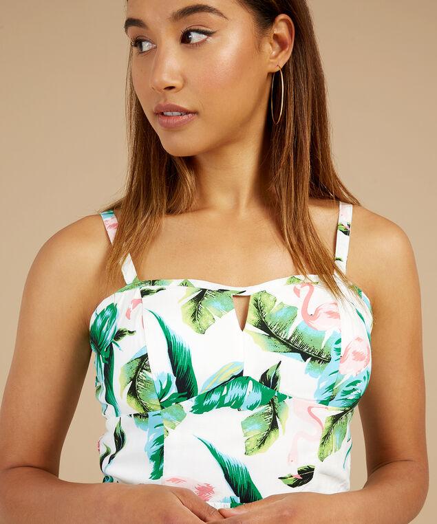 bustier bodice dress - wb, IVORY/FLAMINGO, hi-res