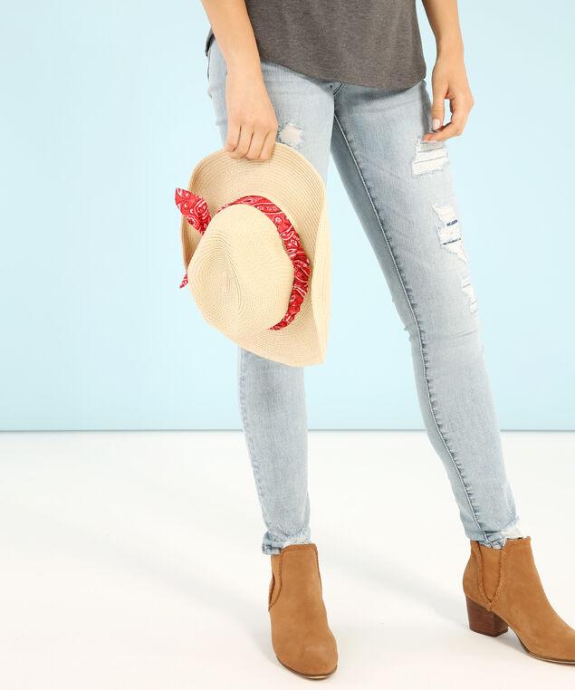 straw cowboy hat, NATURAL, hi-res