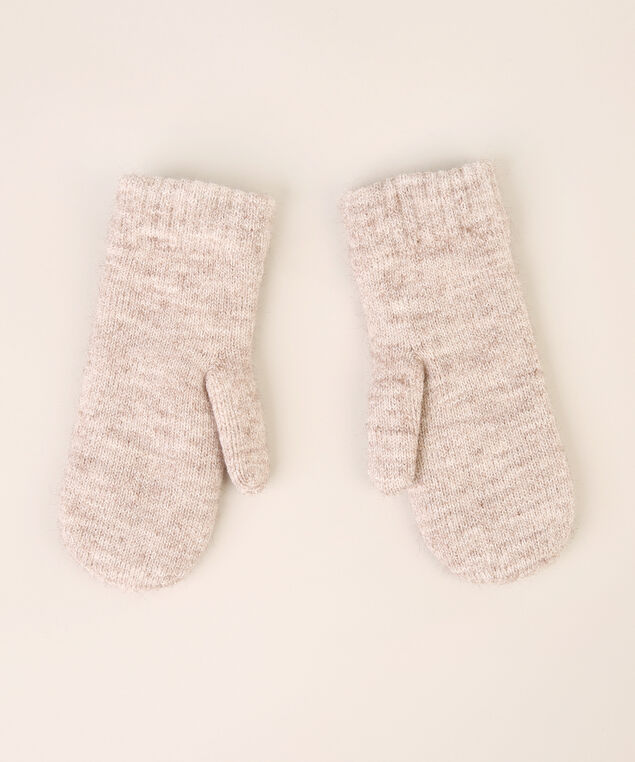 pointelle stitch mittens, OATMEAL, hi-res