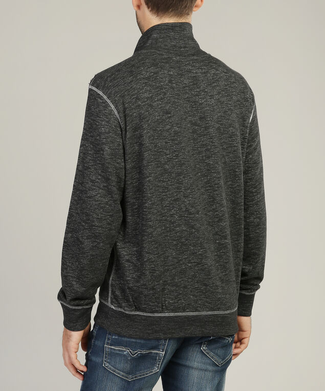 mock neck fleece, BLACK, hi-res