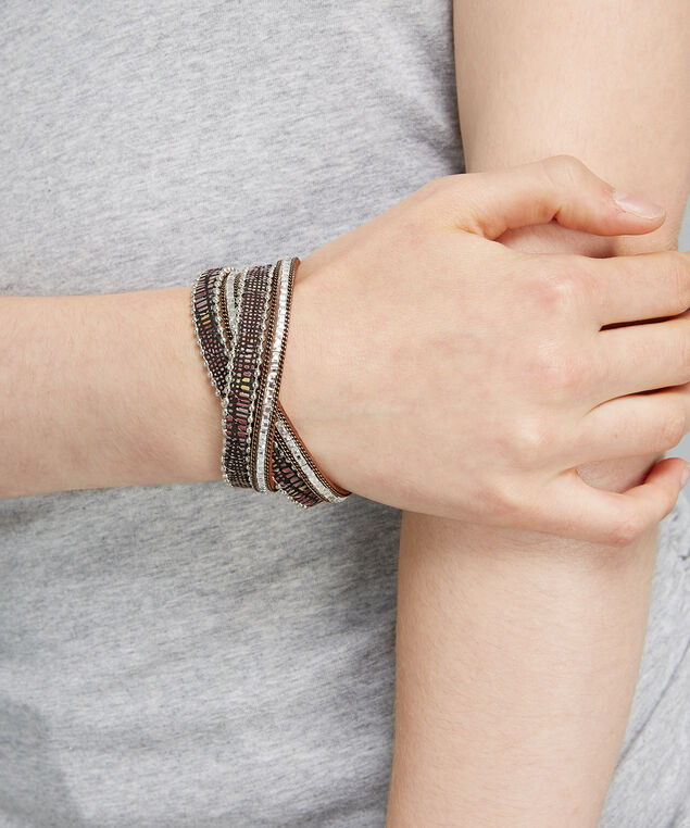 multi wrap bracelet, SILVER, hi-res