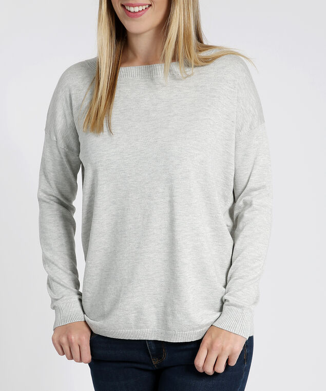 popover sweater with back slit - wb, LIGHT GREY, hi-res