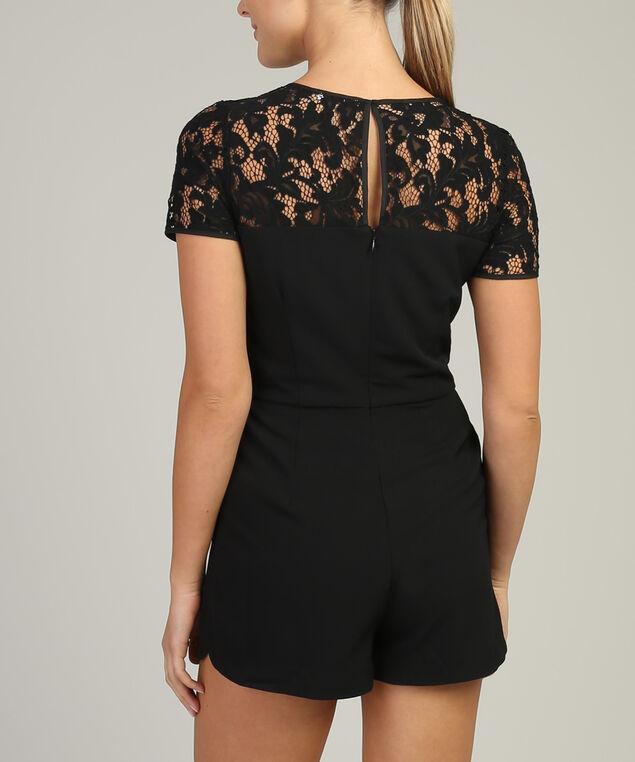 black lace romper - wb, BLACK, hi-res