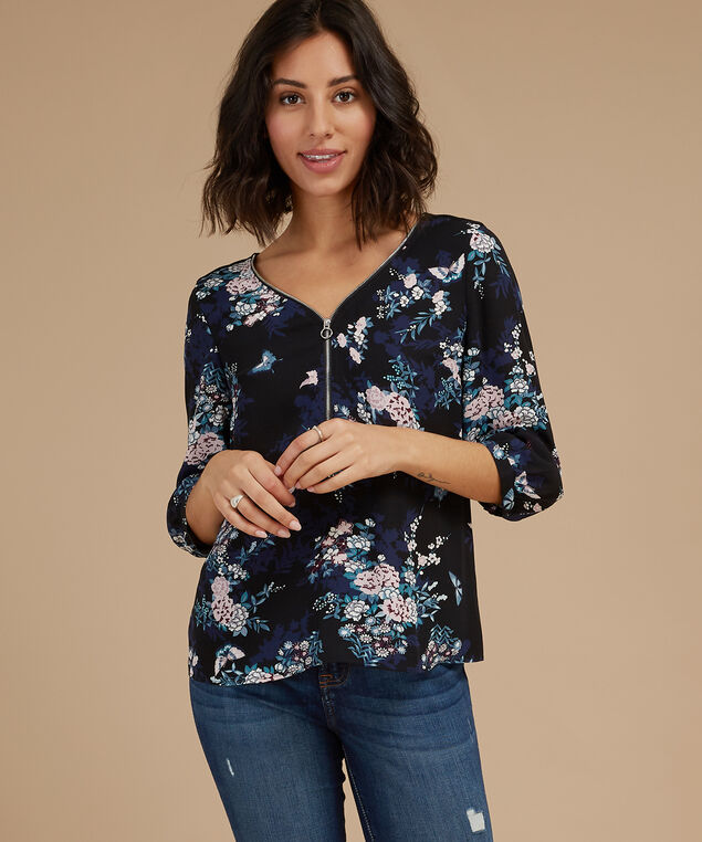 lidia l/s, BUTTERFLY FLORAL, hi-res