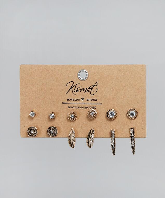 antique brass earrings, ANTIQUE BRASS, hi-res
