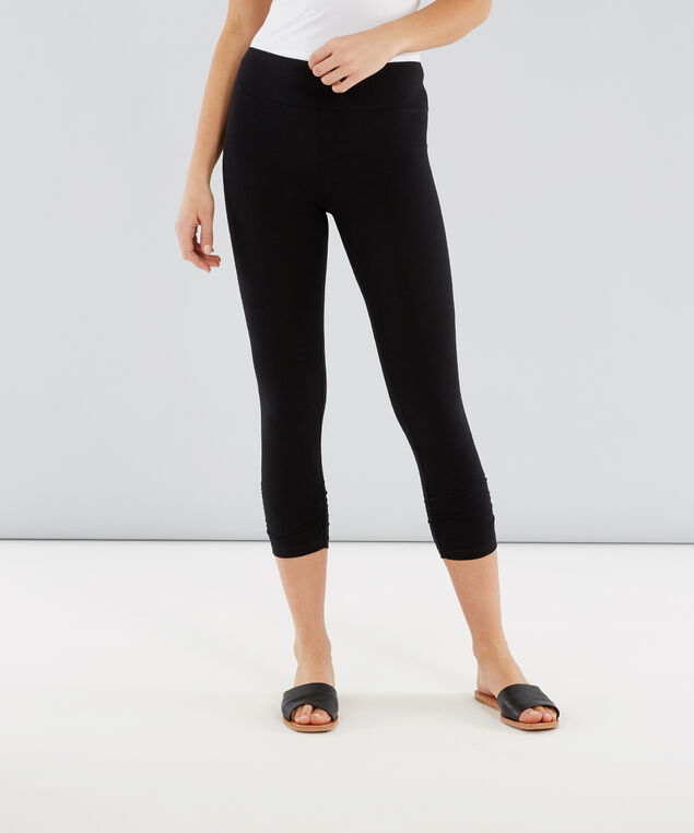nala cropped ruched 18, BLACK, hi-res
