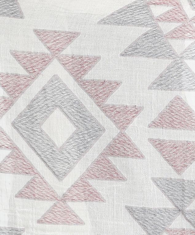 oblong geometric scarf, IVORY GEO, hi-res