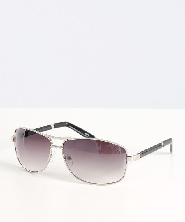 metal ombre lens sunglasses, SILVER, hi-res