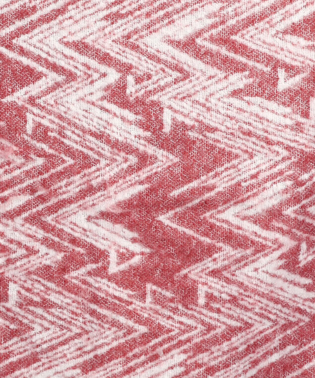 chevron pattern scarf, RED/WHITE, hi-res